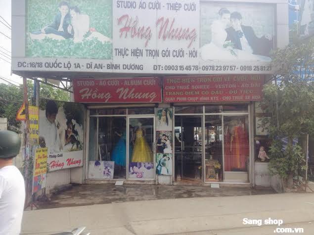 Sang tiệm áo cưới Mặt Tiền QL 1