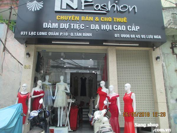 Sang shop thời trang mặt bằng Lạc Long Quân